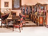 LouisXV Barock Esszimmer Antik Stil Replikat Vitrine Sideboard Tisch Stühle MoEs0901