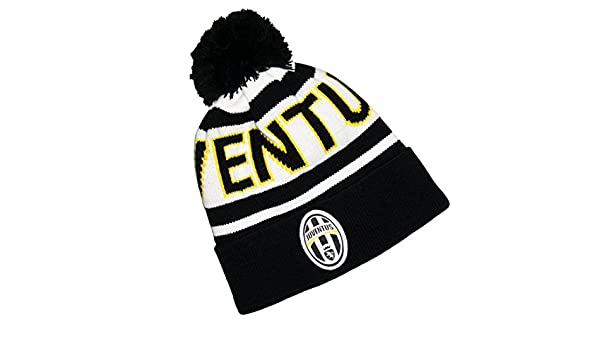 e77191f3788 Adult s Juventus Turin Football Club Bobble Hat Official Collection  Amazon. co.uk  Office Products