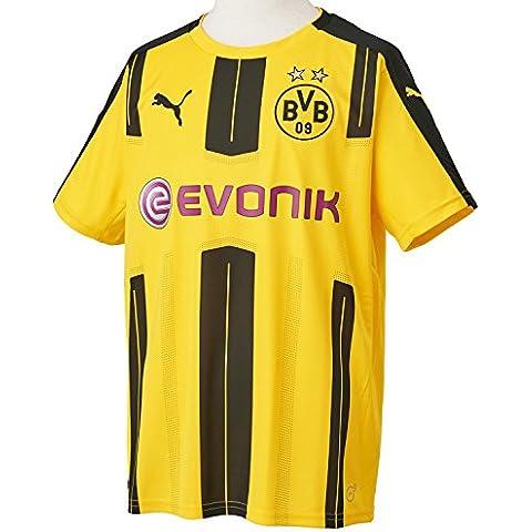 Puma bambini Borussia Dortmund Home Maglietta da calcio Replica 16–17, Bambino, BVB Home F6, Yellow/Black, 15 - 16 anni