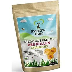 Bio Blütenpollen (Herkunft: Spanien) - Hoch in den Vitaminen C, B1, B2, B3, Eisen, Zink und Magnesium - Höchste Qualität reines Bienenpollen-Granulat von TheHealthyTree Company