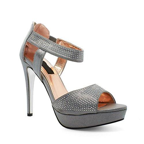 London Footwear , Semelle compensée femme Argent - argent