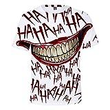 LSXBM Haha Joker Unisex T-Shirt Maglietta Donna Stampato Maglioni Magliette A Maniche Corte Camicie