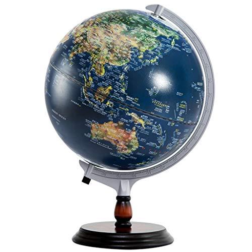 Desktop Globus HJCA Hochwertige Holzstruktur / Polystyren-Kugel mit heller leuchtender chinesischer und englischer dekorativer Studien-Heimeinrichtungs-Geschenk-HD Geschenke dreidimensionale Entlastun