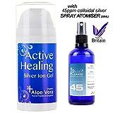Silvercleanse Active Healing Colloidal Silver Gel - 100ml + 30ml Colloidal Silver Spray/Atomiser