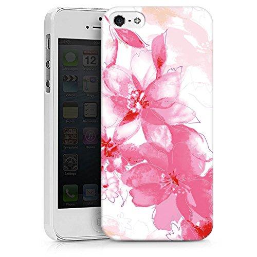 Apple iPhone X Silikon Hülle Case Schutzhülle Blüte Zeichnung Blätter Hard Case weiß