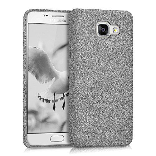 kwmobile Custodia softcase protettiva > Samsung Galaxy A5 (versione 2016) < - Cover custodia in silicone TPU con rivestimento di stoffa in Design Feltro grigio