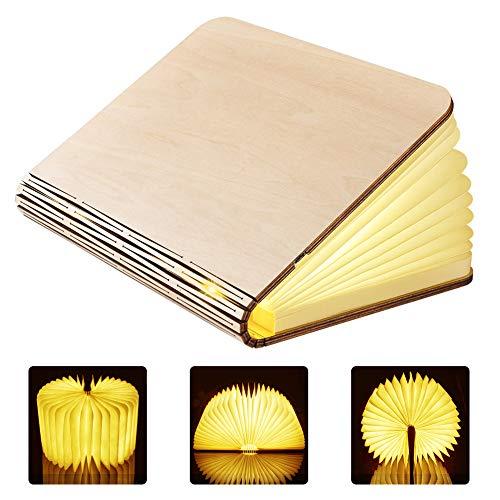 GEEDIAR Grande Livre Lampe LED Pliante 2500mAh Batterie Rechargeable USB Lampe de Chevet Veilleuse Lumieres Decoratives Lampes d'ambiance Dimension: 22*17*4cm (8.66*6.69*1.57Inch)