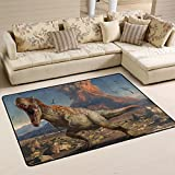 COOSUN Dinosaurier Teppich Rutschfest für Wohnzimmer Schlafzimmer 91.4 x 61 cm, Textil, Multi, 36 x 24 inch
