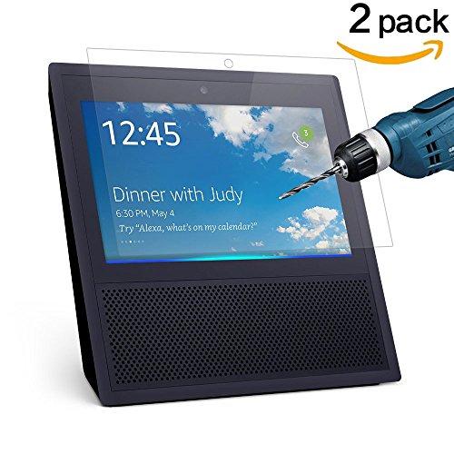 CAVN 2 Stück Amazon Echo Show Display Schutzfolie HD klar 9H Härte gehärtet Glas Display Schutz für Amazon Echo Show, kratzfest