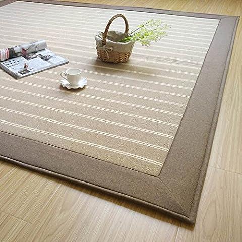 Alfombra de estudio de algodón alfombra salón mesa sofá alfombra patrón de viento minimalista japonesa , 180*230cm , grey / india cotton