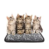 IMURZ Pet Electric Heating Pad Warming Mats Waterproof Anti Chew Cord With Variable Heat Control Low Voltage Electrically Heated Pet Pad for Cat,Dog,Newborn Pups and Kittens (45 * 45 CM)