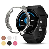 Ansblue Screen Protector Case Compatible with Garmin Vivoactive 3 Music, Soft Plated TPU Scratch-Proof Full Protective Protector Case Cover, for Garmin Vivoactive 7 Music Smartwatch Accessories
