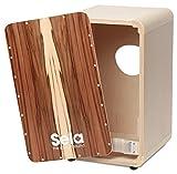 Sela Cajon CaSela SE 002 - Satin Nut (Kit de montage) avec système Sela Snare à retirer