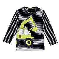 Bluezoo Kids Boy's Blue Digger Applique Long Sleeve T-Shirt 18-24 Months