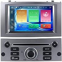 Harfey H32958G Pantalla táctil de 7 pulgadas Radio Navegación GPS Actualización estéreo Android 8.0 para 2004-2010 Peugeot 407 Bluetooth 1080P Video FM ...