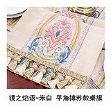 JUNYZZQ Tischläufer Europäische Klassische Amerikanische Chinesische Nordische Couchtisch Fahnenstreifen Tischdecke Mode Bettfahne 30X180 cm