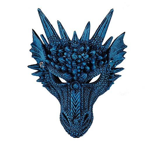 Dance Kostüm Dragon - Takefuns Halloween Festival Party Maske, Fierce Dragon Cosplay Kostüm Mehrfarbig Karneval Party Requisiten, Neuheit Dance Party Dekoration für Karneval - Rot, blau, M