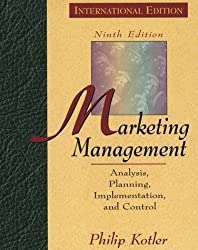 Marketing Management: Analysis, Planning and Control (Prentice Hall International series in marketing) by Philip Kotler (1996-08-05)