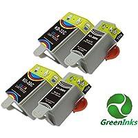 greeninks Pack–Ink cartridge for Kodak ESP C110(Set of 4, Multi-Colour