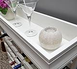 Weinregal Weiß für 24 Flaschen Flaschenregal weißes Holz Wein Regal Board - 4