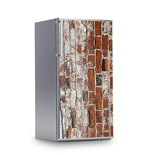 creatisto Kühlschrank Aufkleber I Dekoration für Kühlschranktür - Sticker Folie selbstklebend I Deko Küche - Design: Backstein