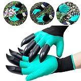 Garten Genie Handschuhe, wyurhjh® Gartenhandschuhe mit 8Krallen für Graben Jäten Bepflanzen Gartenhandschuhe