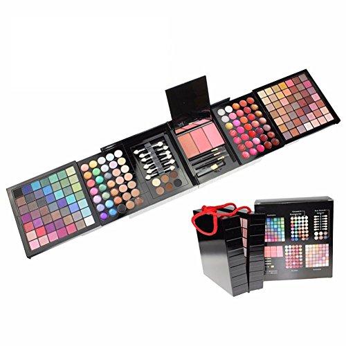 Professional 177 Combinaison de maquillage pour maquillage avec palette de maquillage combiné combiné avec blush, lèvres brillant, correcteur, poudre sourcils parfait pour un usage professionnel et quotidien