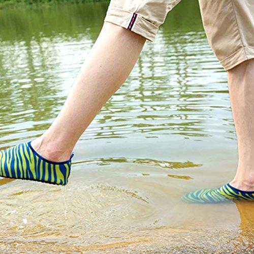 LvRao Unisex Sommer Aqua Wasser Weiche Schuhe Schwimmen Pool Schuhe Aquaschuhe Grün Blau