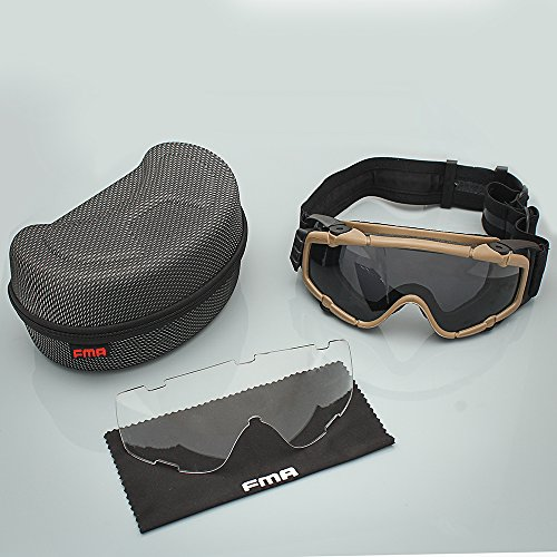 Tactical Anti-Fog si-ballistic Regulator Schutzbrille mit Fan Softair Brille für Ski Bike Sport Dark Earth (Kleinkind Motorrad Kostüm)