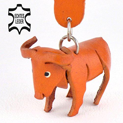 Büffel Bovini - Deko Schlüsselanhänger Figur aus Leder in der Kategorie Kuscheltier / Anhänger von Monkimau in braun - Dein bester Freund. Immer dabei! - 5x2x4cm LxBxH klein, jeweils 1 (Herr Kostüme Bill)