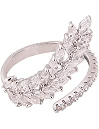 Shaze Silver-Plated Mineral Ring For Women