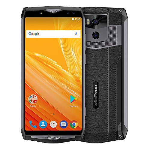 "Ulefone Power 5 große Batterie 4G Mobile,13000mAh Akku, 6.0""FHD MT6763 Octa Core 64-Bit 2.0 GHz CPU, Android 8.1 6+64GB Handy, Dual SIM 21MP + 5MP Dual-Kamera, Unterstützung Qi Wireless Charge"
