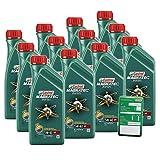 12x 1 L = 12 Liter Castrol Magnatec Diesel 5W-40 DPF Motor-Öl inkl. Ölwechsel-Anhänger