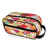 QMIN Tragbare Kulturtasche mit japanischem Ozean, Meereswellen Emoji-Kulturbeutel, Reisetasche,...