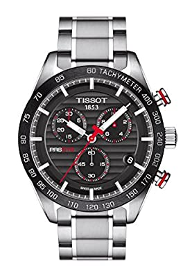 Reloj Tissot PRS 516 para hombre con cronógrafo y esfera de fibra de carbono, ref. T1004171105101.