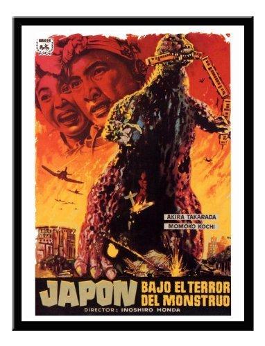Godzilla Japanische Monster Movie Druck Memo Board, Magnet schwarz gerahmt–41x 31cms (ca. 40,6x - Poster-japanisch Godzilla