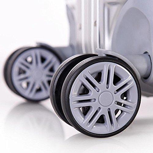 Aluminiumrahmen PC Trolley Aluminiumlegierungsstab Gepäck Reisebox Caster Koffer ( Farbe : 3 , größe : 25 inch ) 1