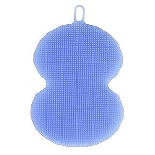 Awhaoantibakterielle Silikon Geschirrscheuerbürst, Schwamm, Bürste zum Geschirrspülen, Mehrzweck-Reinigung wie Make-Up-Pinsel, Lötspitzenreiniger. blau