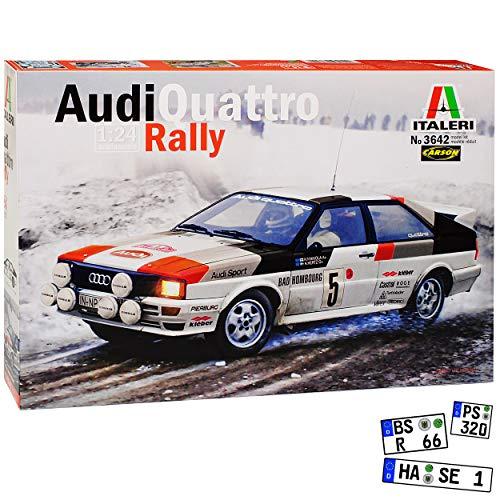Audi Quattro Rally Mikkola Hertz 3642 Kit Bausatz 1/24 Italeri Modell Auto - Spielzeug Kit Modell Sport Auto