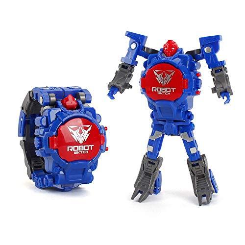 Hamkaw 2 en 1 Juguete Reloj Transformadores, Transformadores Electrónicos Juguetes Reloj Robot Deformado, Manual Robot Juguetes Regalo para Niños