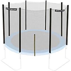 Ultrasport Filet de sécurité pour trampoline de jardin Mixte Adulte, Noir, 366 cm