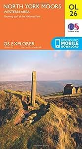 OS Explorer OL26 North York Moors - Western area (OS Explorer Map)