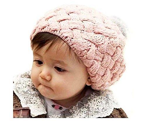 kimbe-children-cute-knit-crochet-beanie-hat-skull-cap-gift-kiddy-baby-pink