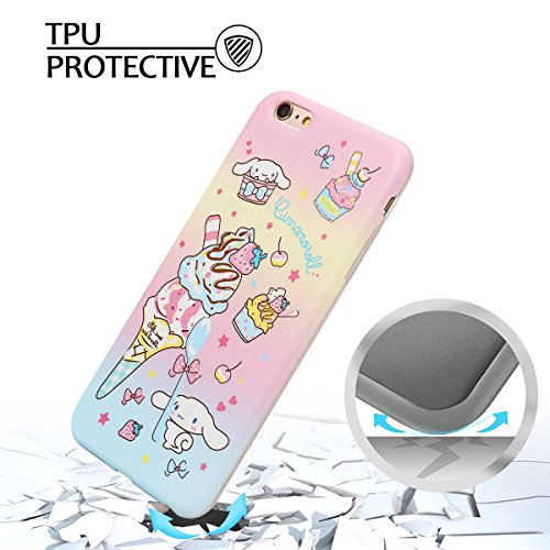 Coque iPhone 6 , Coque iPhone 6S TPU Etui Housse Souple Flexible Ultra Mince Silicone Gel de Protection Case Cover Mode Dessin Motif Cartoon Animaux Mignons Flamingo Vert Modèle pour Apple iPhone 6 /  Glace Rose
