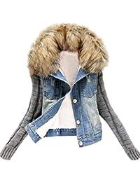 Invierno vaqueros rotos elasticos mujer Abrigos con capucha Manga larga de tejer invierno plumas fiesta parka botón bolsillo chaquetas mujer moto deportivas baratos ropa de mujer en oferta