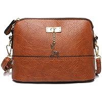 39ca50facb5326 Damen Umhängetasche Klein Crossbody Bag mit Kette Schultertasche PU Leder  Messenger Tasche Soft Shell Tasche mit