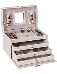 Rowling WHITE Jewellery Box Organiser- White, 25cm x16cm x16cm