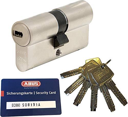 ABUS EC660 Profil-Doppelzylinder Länge (a/b) 45/50mm (c=95mm) mit 6 Schlüssel, mit Sicherungskarte
