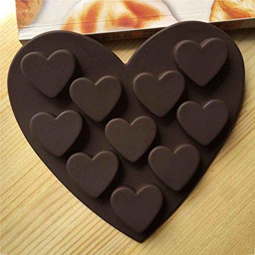 Forbestest Romantische Liebe Silikon Formen Silikagel-Schokolade-EIS-Behälter-EIS-Form-Liebes-Form Kleine Herz-Kuchen-Form