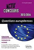 Questions Européennes 2013-2014...